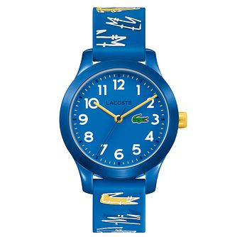 Lacoste 12.12 Children's Blue Printed Silicone Strap Watch - Product number 5058457