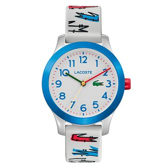 Lacoste 12.12 Children's Grey Printed Silicone Strap Watch - Product number 5058465