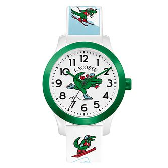Lacoste 12.12 Holiday Kid's White Silicone Strap Watch - Product number 5058473