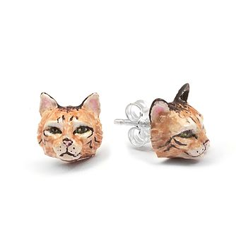 Cat Fever Norwegian Forest Muzzle Stud Earrings - Product number 5059305