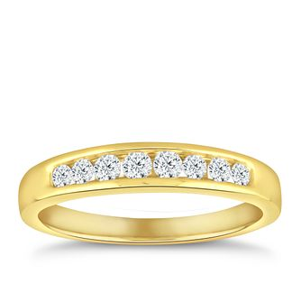 18ct Yellow Gold 1/4ct Diamond Eternity Ring - Product number 5059518