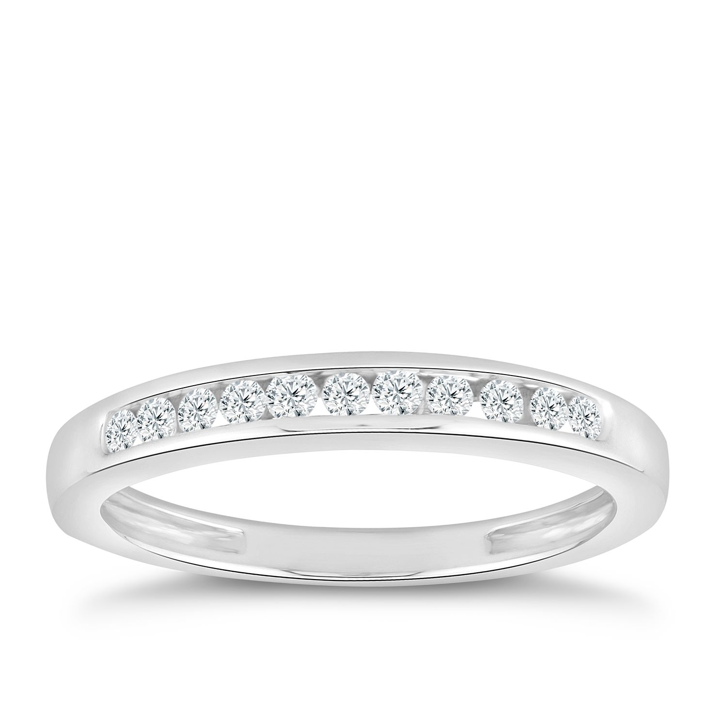 18ct White Gold 0.15ct Diamond Eternity Ring - Product number 5059763