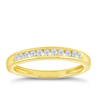 18ct Yellow Gold 0.15ct Diamond Eternity Ring - Product number 5059909