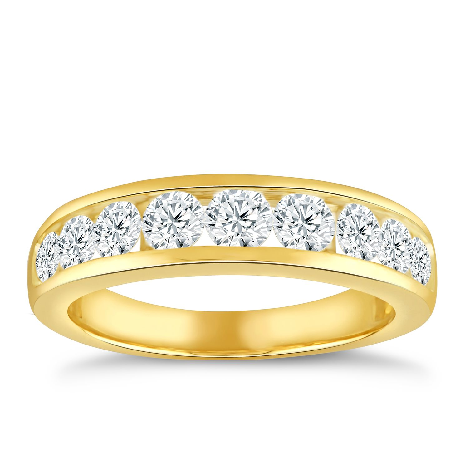 9ct Yellow Gold & 1ct Diamond Eternity Ring - Product number 5060044