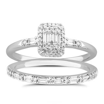 Perfect Fit Platinum & 0.40ct Pave Diamond Bridal Set - Product number 5061180
