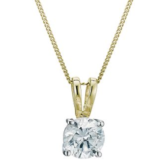 18ct Yellow Gold 0.75ct H/I P1 Diamond Pendant - Product number 5062942