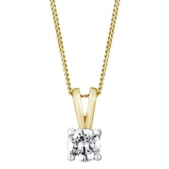 18ct Yellow Gold 0.40ct G/H Si1 Diamond Pendant - Product number 5063388