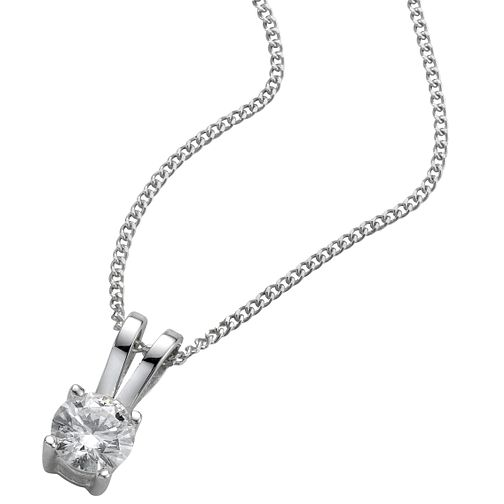 Platinum 0.25ct H/I P1 Diamond pendant - Product number 5063752