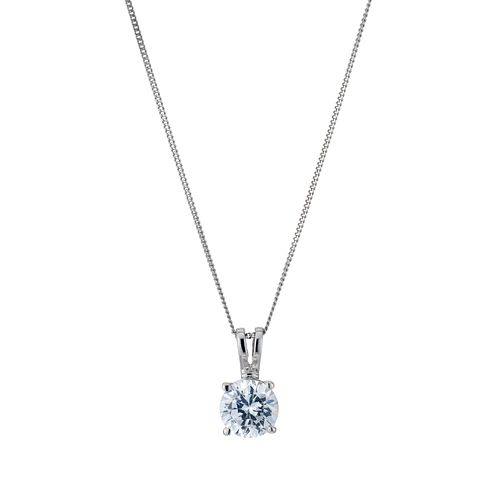 Platinum 1ct H/I P1 Diamond solitaire pendant - Product number 5063825