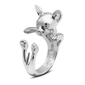 Dog Fever Silver Chihuahua Hug Ring - M - Product number 5063922