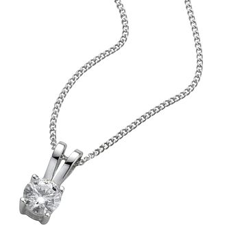 Platinum 0.25ct H/I Si2 Diamond Pendant - Product number 5064538
