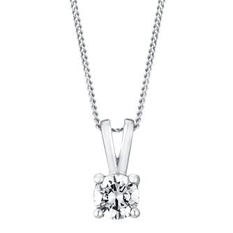 Platinum 0.40ct F/G VS2 Diamond pendant - Product number 5064651