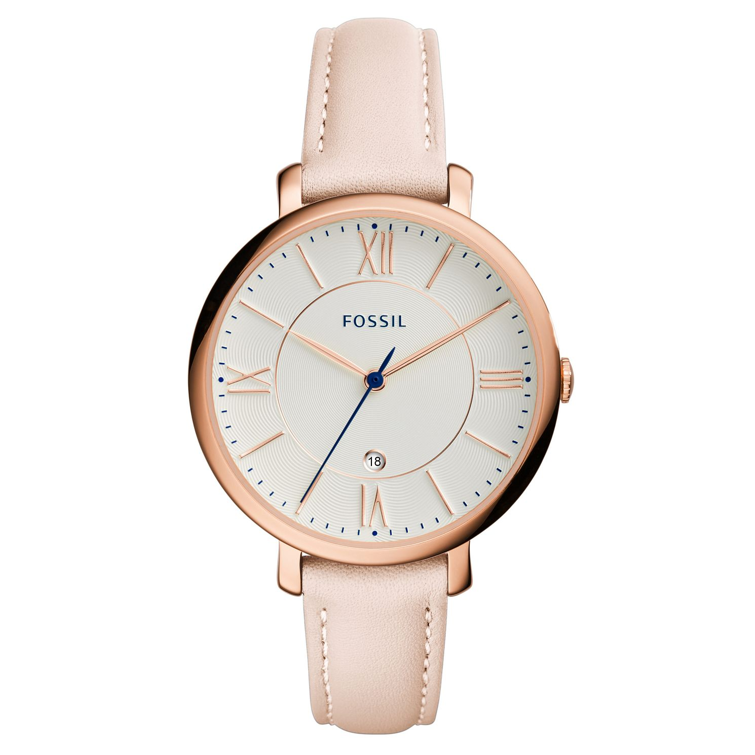 Fossil Ladies' Light Pink Leather Strap Watch - Product number 5065682