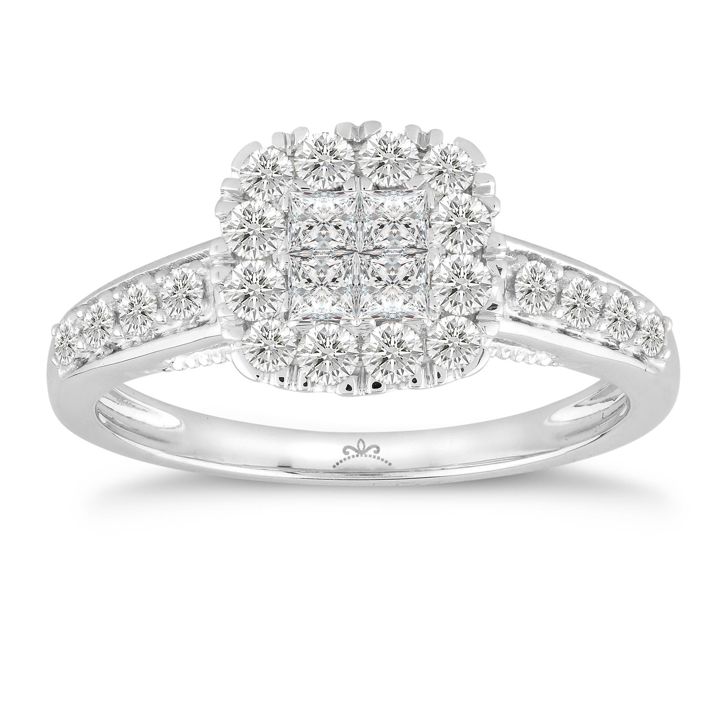 Princessa Platinum 2/3ct Diamond Ring - Product number 5066573