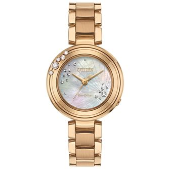 Citizen Carina Diamond Ladies' Rose Gold Tone Bracelet Watch - Product number 5067855