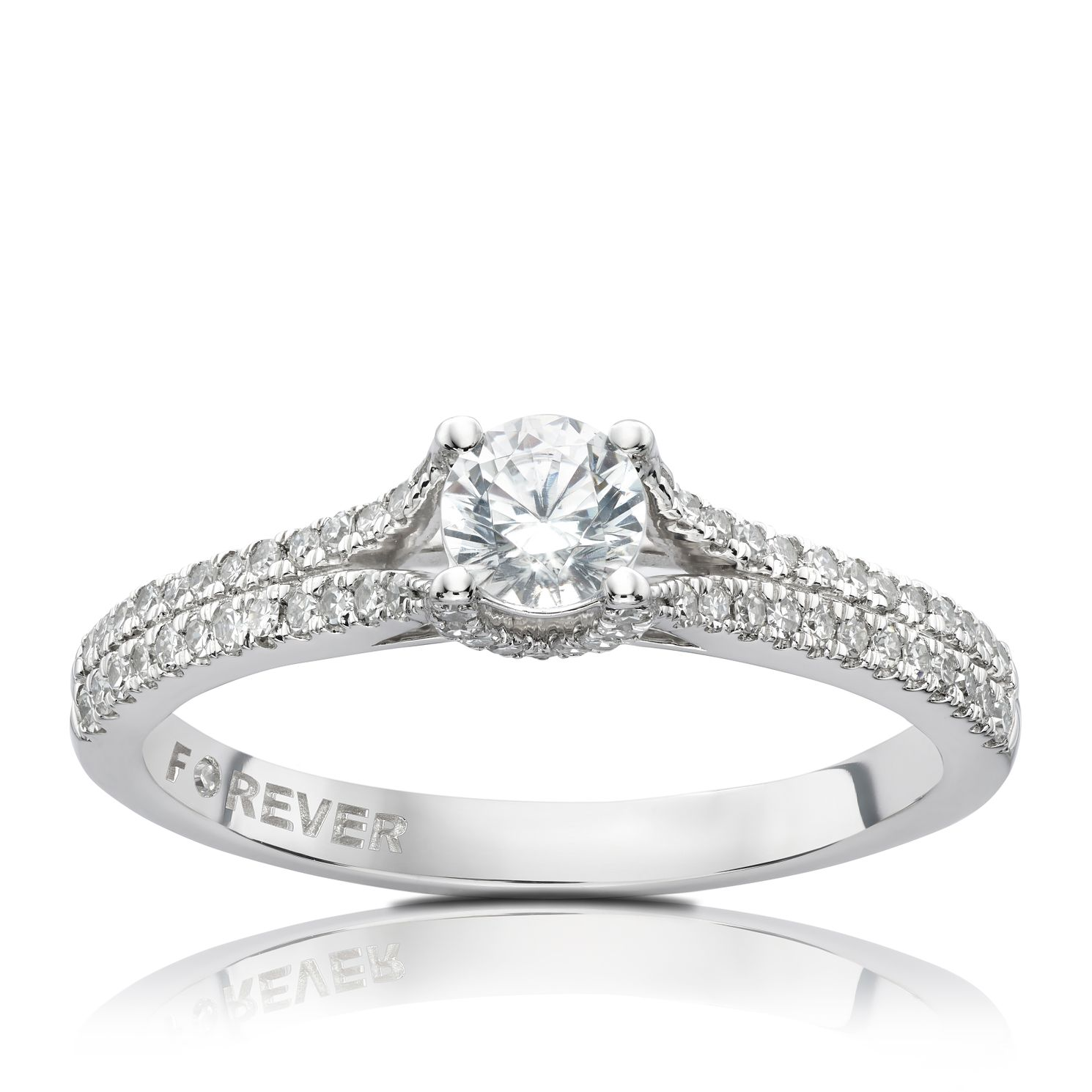 Platinum & 1/2ct Forever Diamond Ring - Product number 5068126