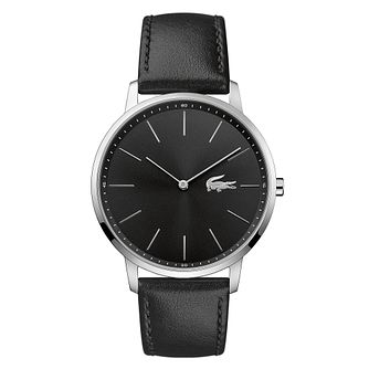 Lacoste Moon Men's Black Leather Strap Watch - Product number 5068568