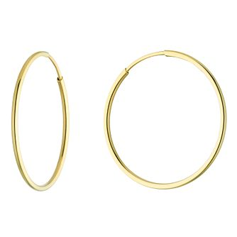 9ct Yellow Gold Skinny 15mm Sleeper Earrings - Product number 5068711