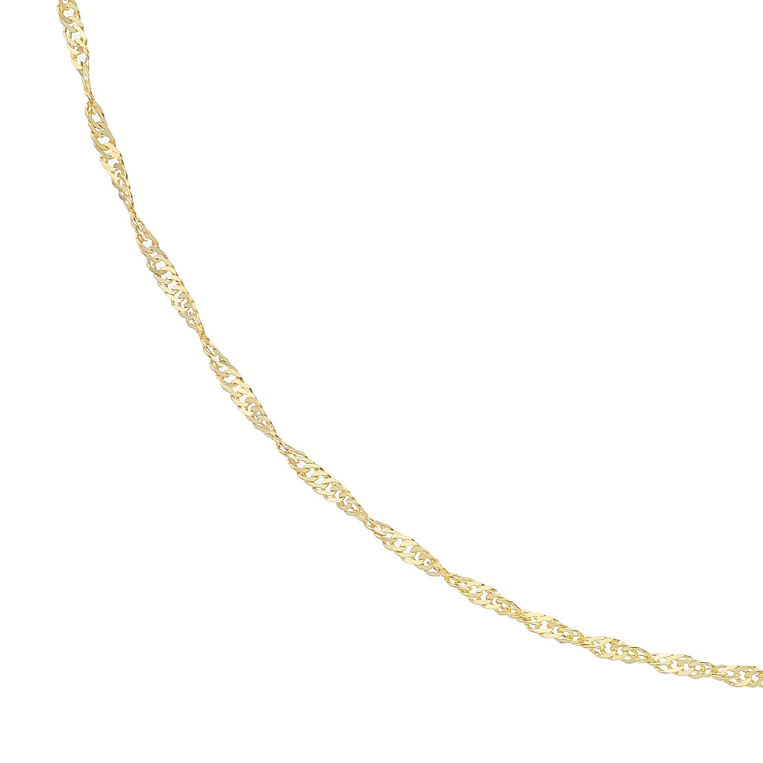 9ct Yellow Gold 18 Inch Singapore Chain - Product number 5069025