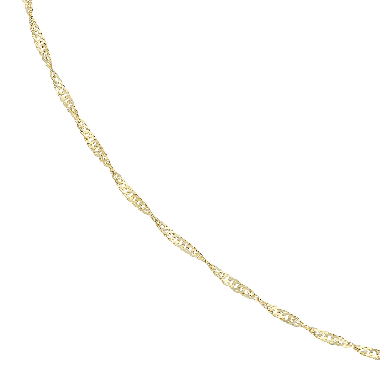 9ct Yellow Gold 20 inches Twisted Curb Chain - Product number 5069033
