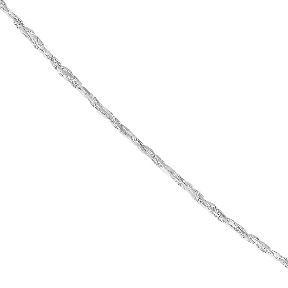 9ct White Gold Sparkle 18 inches Chain Necklace - Product number 5069092