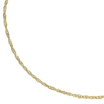 9ct Gold Diamond-Cut 18 inches Singapore Chain Necklace - Product number 5069157