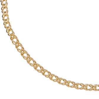 Together Silver & 9ct Bonded Gold 16 inches Curb Chain - Product number 5069319