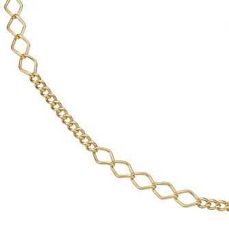 "Together Silver & 9ct Bonded Gold 16"" Figaro Chain - Product number 5069351"
