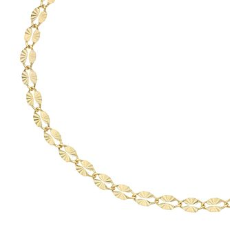 9ct Yellow Gold Starburst Link Bracelet - Product number 5069491
