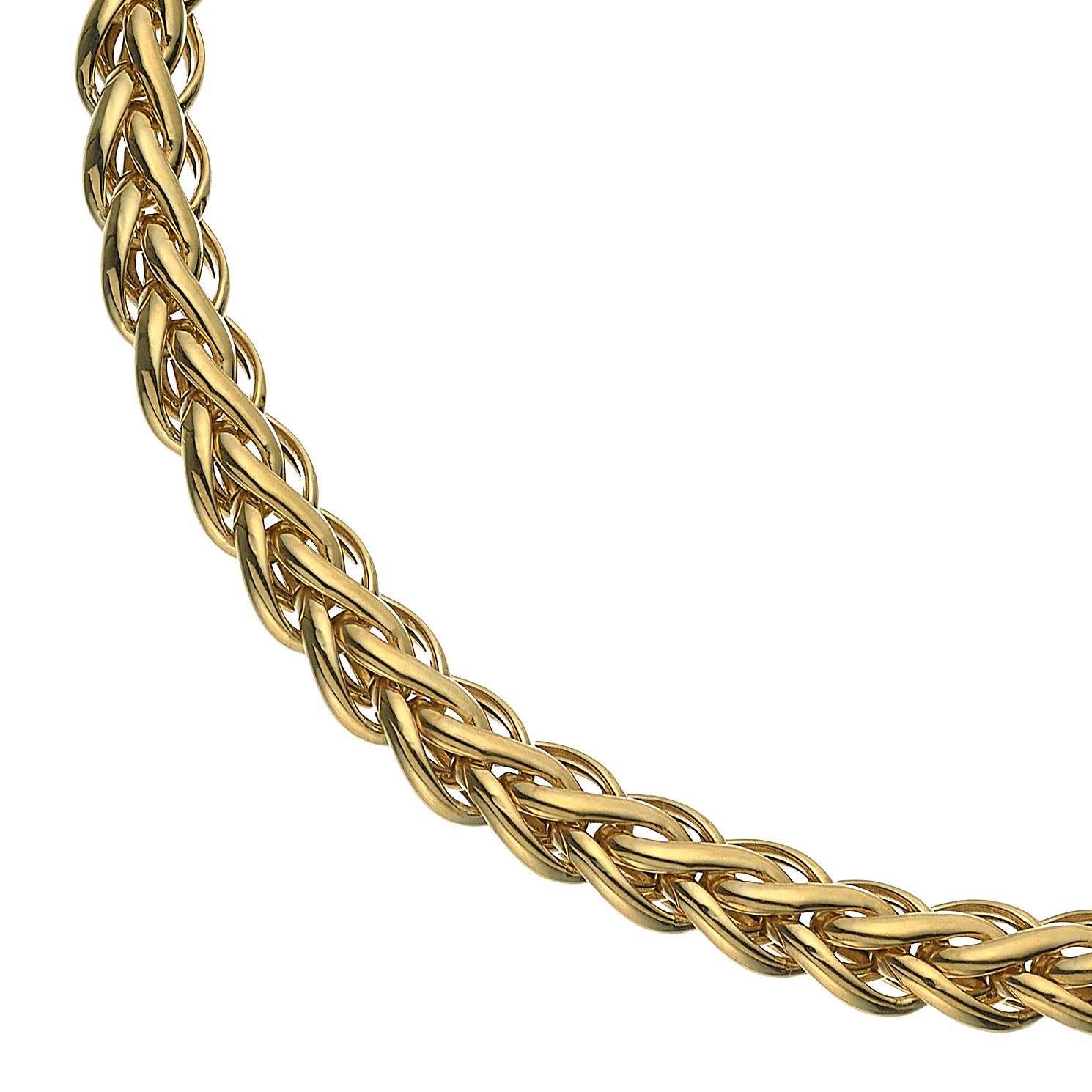 Together Silver & 9ct Bonded Gold Spiga Chain Bracelet - Product number 5069815
