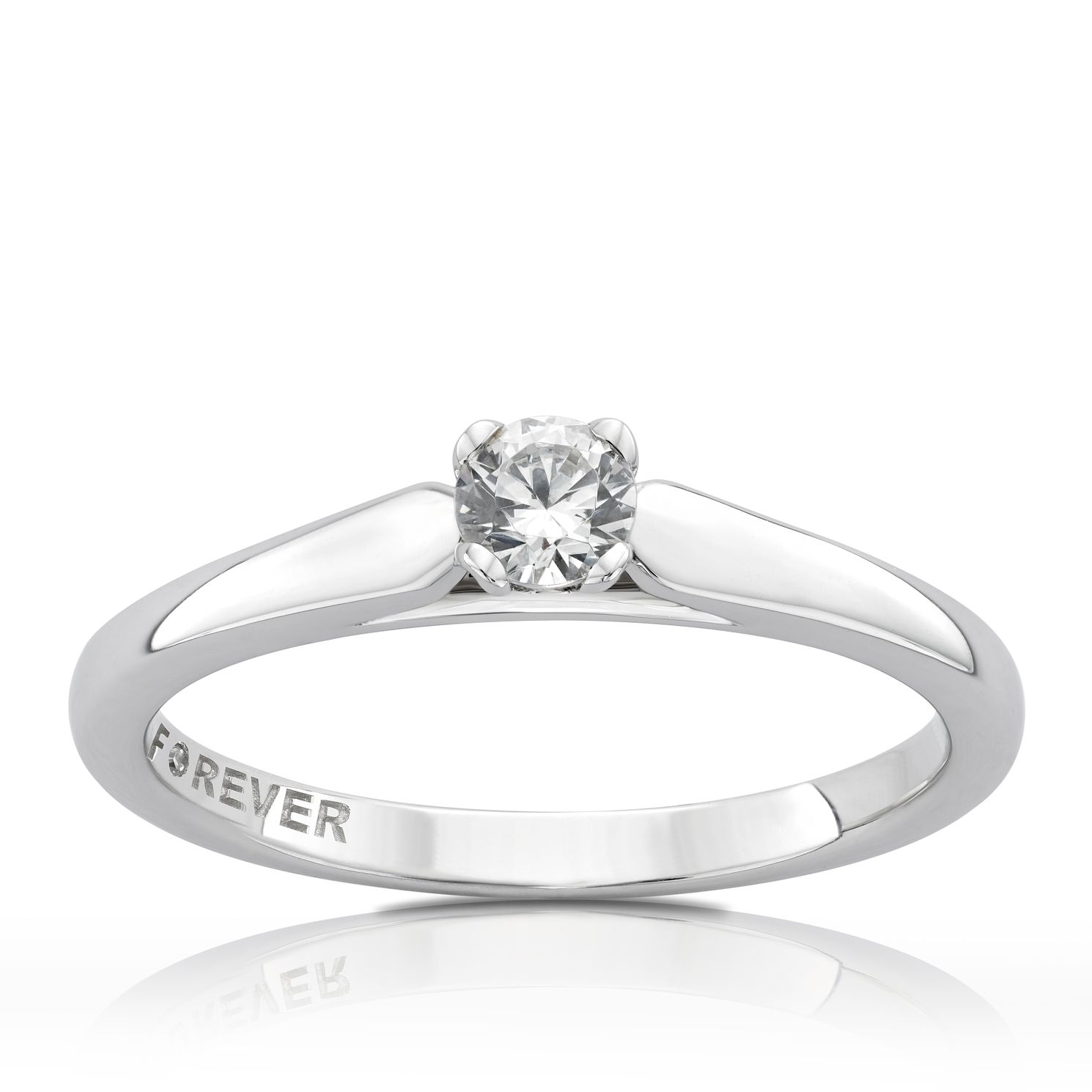 The Forever Diamond 18ct White Gold 0.20ct Ring - Product number 5069831