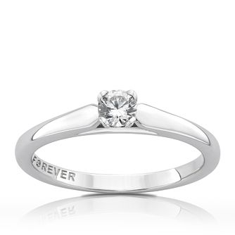 The Forever Diamond 18ct White Gold 1/5ct Diamond Ring - Product number 5069831