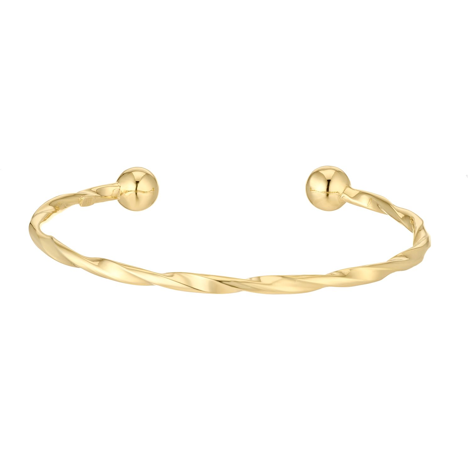 9ct Yellow Gold Twisted Torque Bangle - Product number 5069920