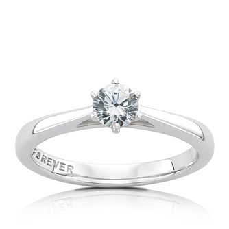 The Forever Diamond Platinum 0.38ct Round Diamond Ring - Product number 5070287