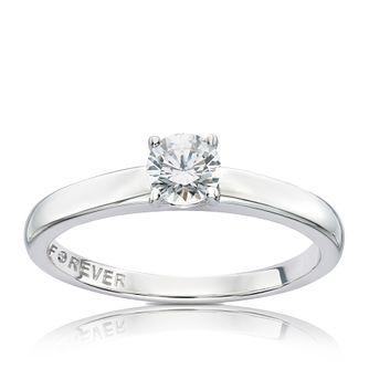 18ct White Gold 0.38ct Forever Diamond Ring - Product number 5071364