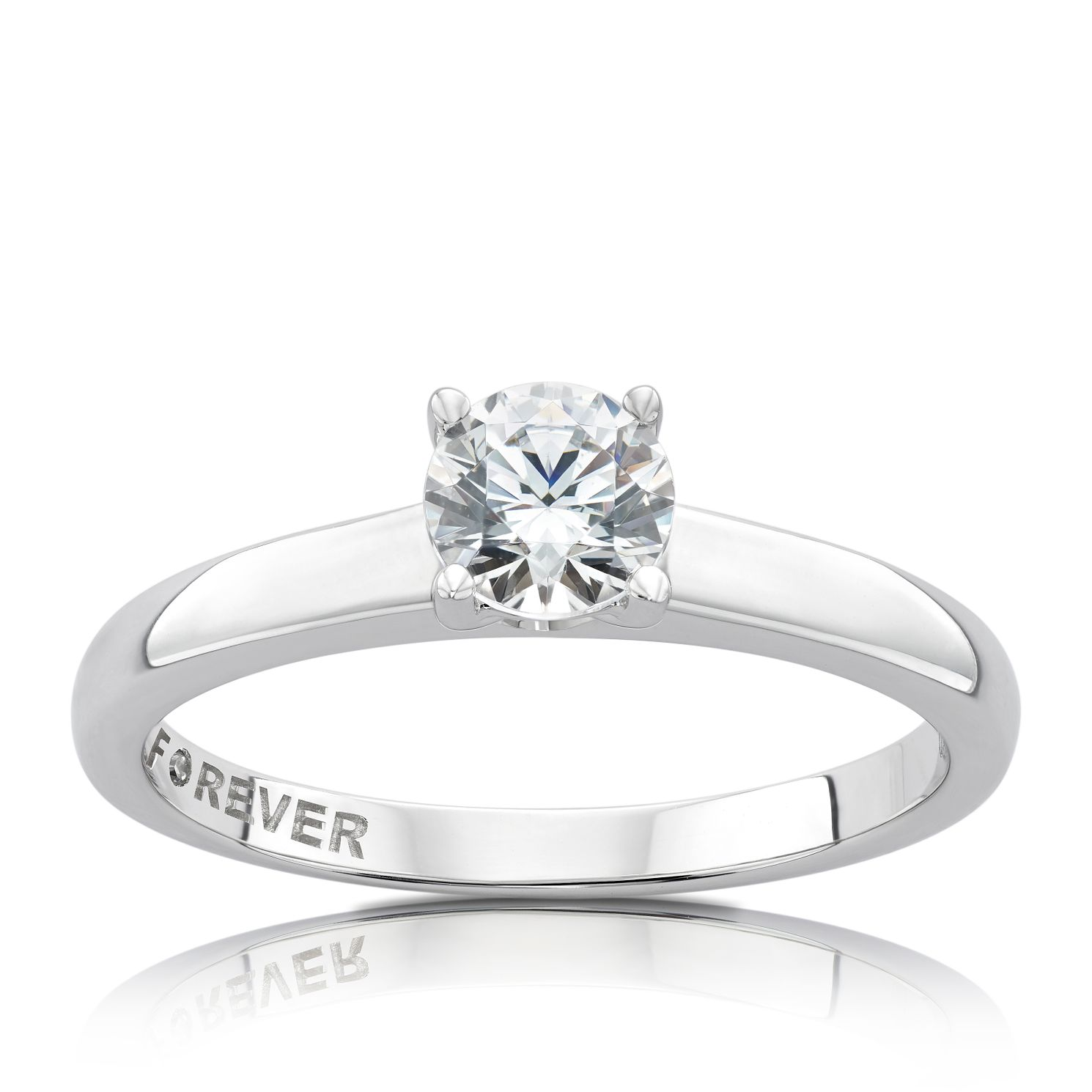 The Forever Diamond White Gold 1/2ct Round Diamond Ring - Product number 5072468