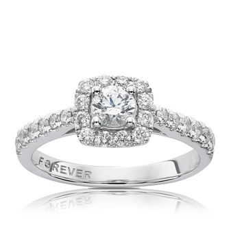 The Forever Diamond Platinum 0.75ct Total Ring - Product number 5072697