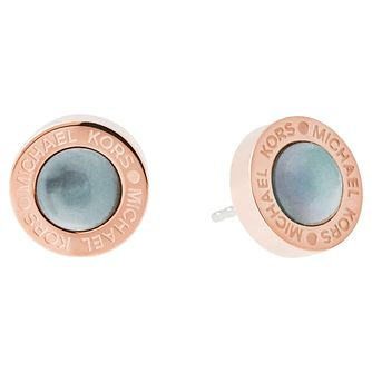 Michael Kors Rose Gold Tone Stone Set Stud Earrings - Product number 5074142