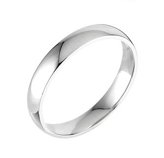 9ct White Gold 4mm Extra Heavyweight Court Ring - Product number 5075246