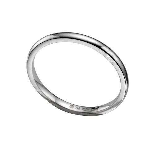 Platinum 2mm super heavyweight court ring - Product number 5076528