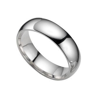 Platinum 6mm super heavyweight court ring - Product number 5076676
