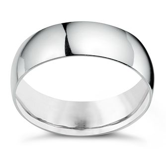 Platinum 7mm Extra Heavyweight Court Ring - Product number 5076846