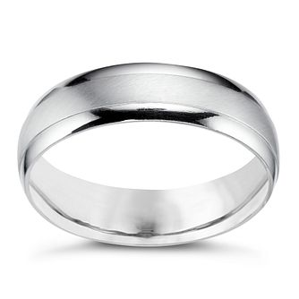 ae193921a414b Platinum 5mm matt & polish ring