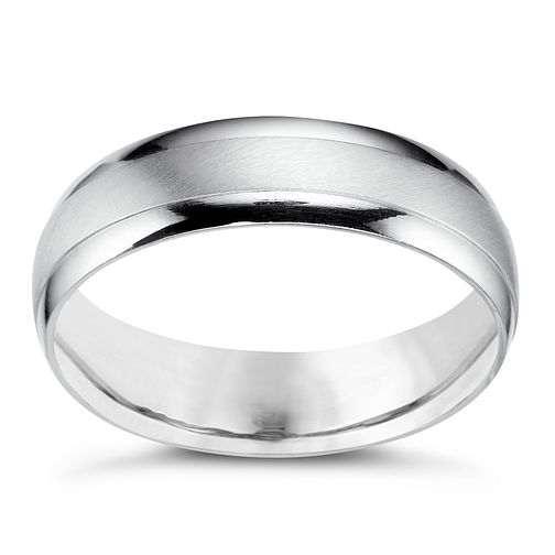 Platinum 5mm matt & polish ring - Product number 5077621
