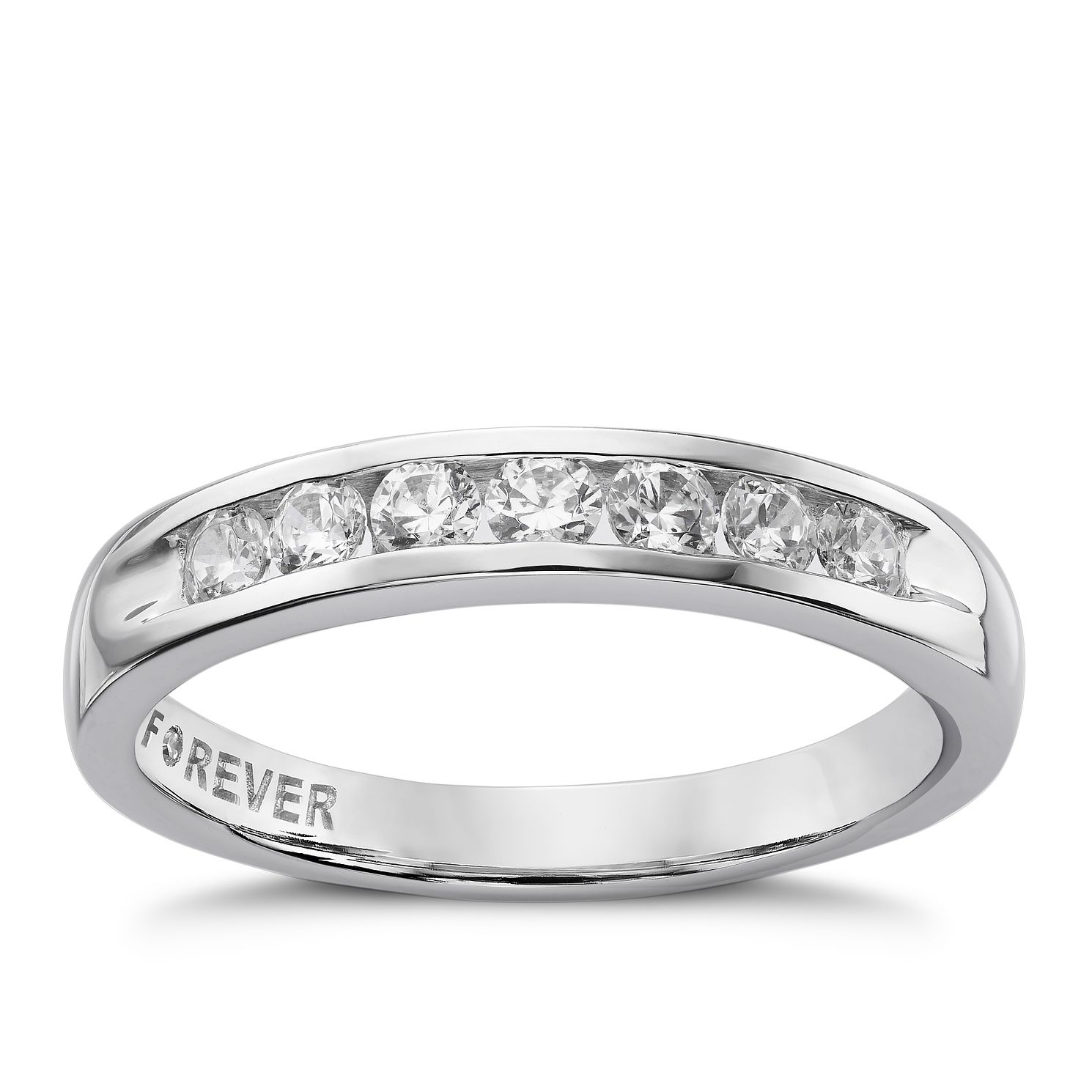 The Forever Diamond Platinum 0.35ct Round Eternity Ring - Product number 5081041