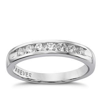 The Forever Diamond Platinum  1/3ct Round Eternity Ring - Product number 5081041