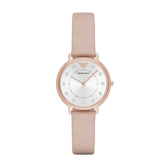 Emporio Armani Ladies' Rose Gold Tone Strap Watch - Product number 5085217