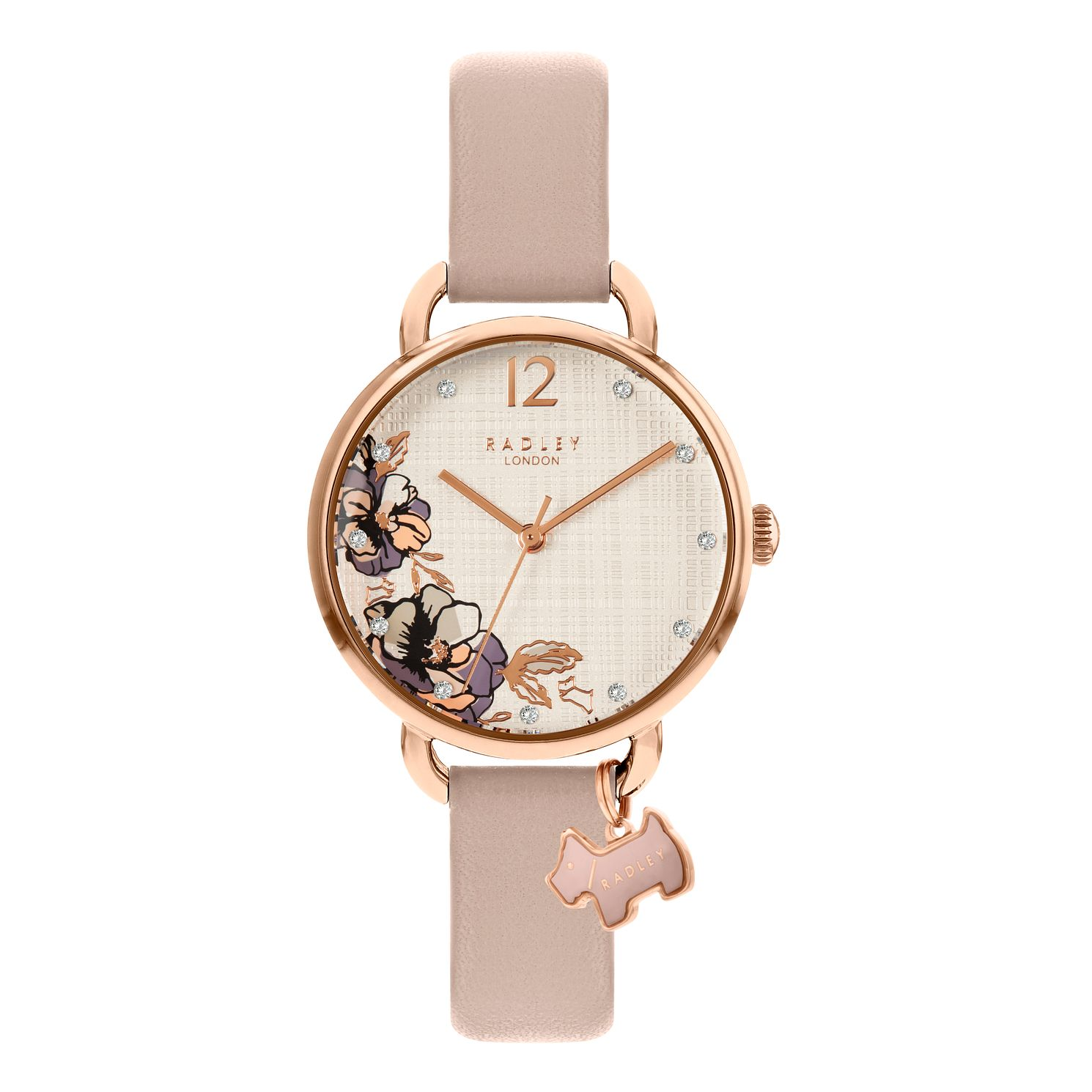 Radley 'Sketchbook Floral' Nude Leather Strap Watch - Product number 5085845
