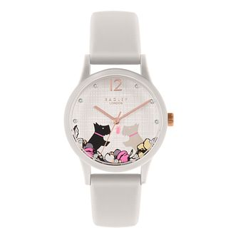 Radley 'Say it With Flowers' White Silicone Strap Watch - Product number 5086027