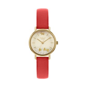 Radley Ladies' Love Hearts Red Leather Strap Watch - Product number 5086043